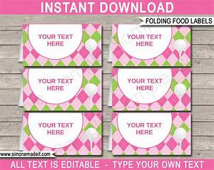 golf theme food labels place cards ladies golf With buffet food labels templates