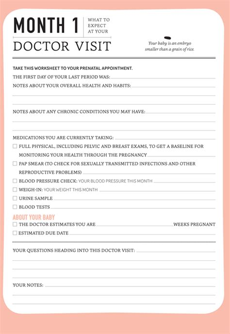 Pregnancy Journal Template by Pregnancy Monthly Doctor Visit Journal Today S Parent
