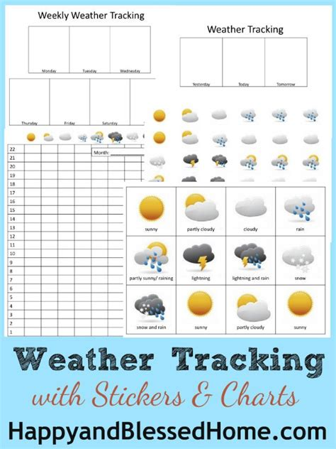 science  weather tracking printables