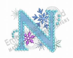 Ice Princess Applique Letter N Frozen Cloth Decor Applique