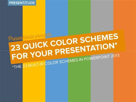 23 Quick Color Themes For Your Presentation