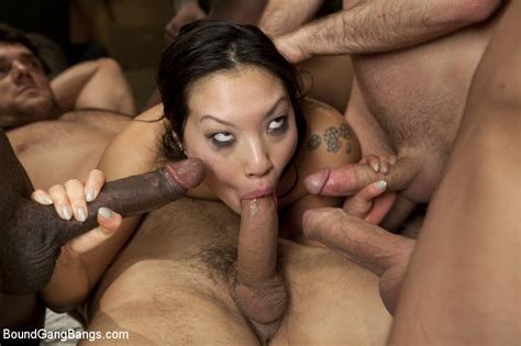 Asa Akira Tied Up And Gangbanged In An Abandoned Building
