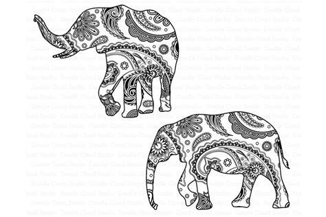 ad hand drawn, elephant, elephant mandala, mandala, elephant mandala svg file, elephant mandala cut file. Elephant SVG, Mandala SVG, Elephant Mandala SVG files By ...