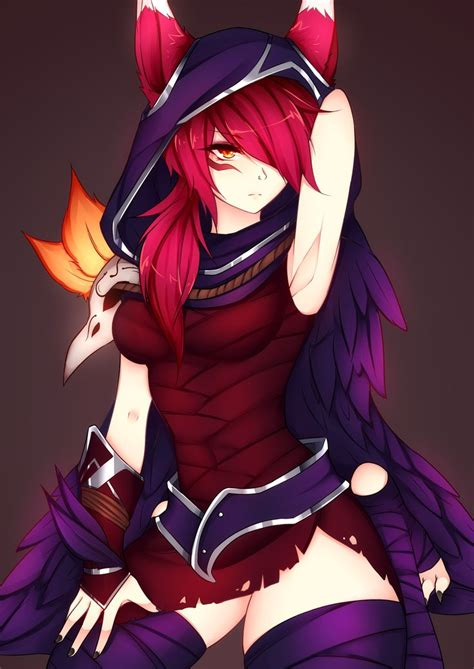fanart xayah lol by dirtykuro xayah fanart anime and neko