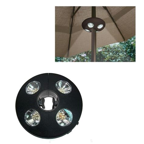 patio umbrella cordless cing table led white ufo