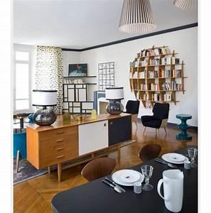 Separation salon et cuisine avec meuble derriere canape for Deco cuisine avec meuble salle salon