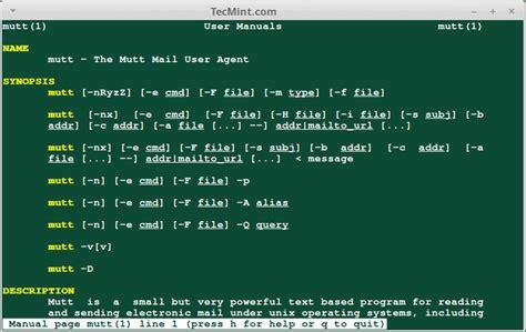 linux email client mutt clients command line