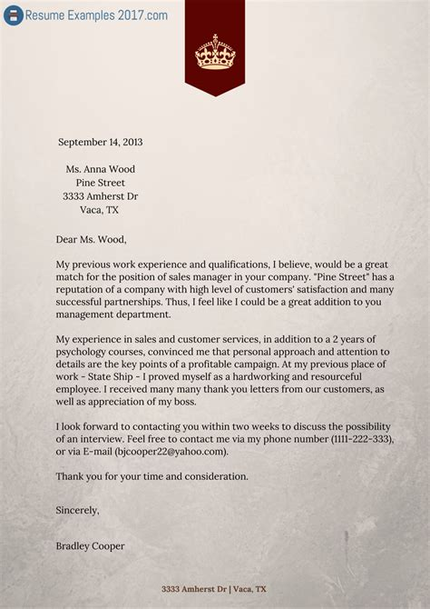 How To Write An Impressive Resume Cover Letter by Finest Cover Letter Resume Exles Resume Exles 2017