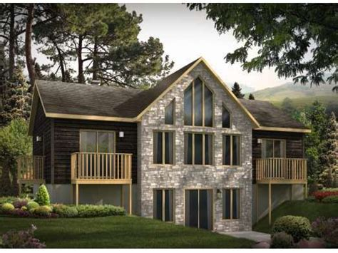 small house plans  walkout basement small house plans  open floor plan vacation home
