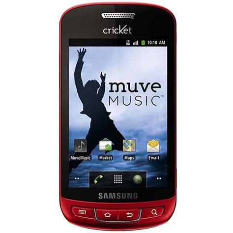 samsung vitality  android cricket phone red