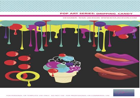 dripping candy vector