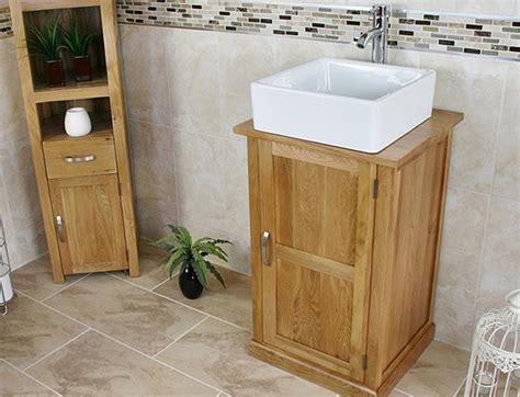 Solid Oak Bathroom Cabinet