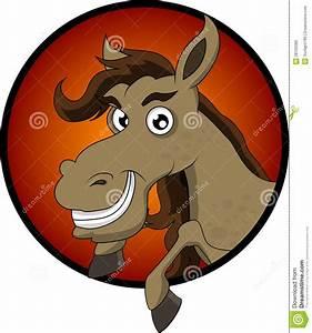 Cute horse head cartoon stock illustration. Image of paint ...