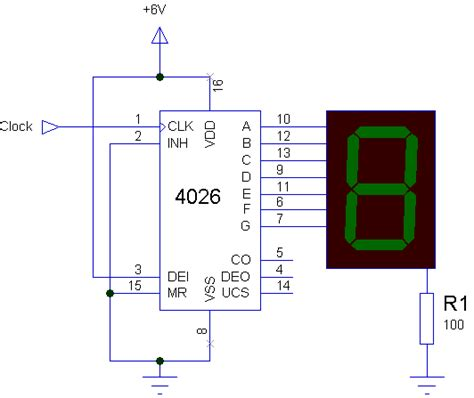 simple  manual digital counter circuit  reset