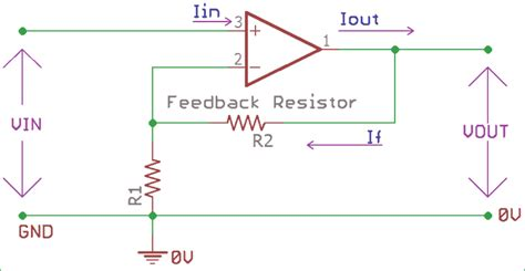 Non Inverting Operational Amplifier Amp Circuit