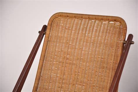 vintage teak wicker dining chairs set sale