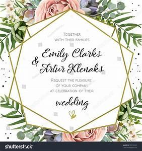 Wedding invitation floral invite card design stock vector for Wedding invitation designs fuchsia pink