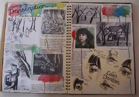 layout designs   sketchbook cover gcse art
