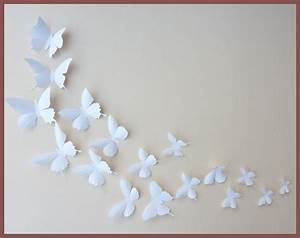 3d wall butterflies 30 white butterfly silhouettes nursery With butterfly wall decor