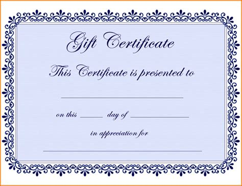 Gift Certificate Template Word Free Gift Certificate Template Pages Sle