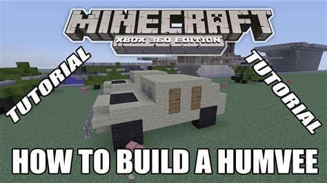 minecraft army jeep minecraft xbox edition tutorial how to build a humvee old