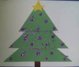 crafts for preschoolers triangle christmas tree