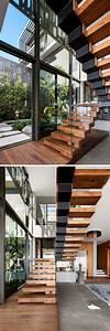 Treppe Mit Glasgeländer : die besten 25 schwebende treppe ideen auf pinterest modernes treppe design moderne treppe ~ Sanjose-hotels-ca.com Haus und Dekorationen