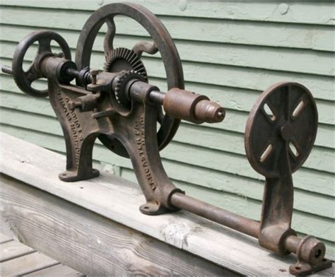 images  antique post drill  pinterest wall
