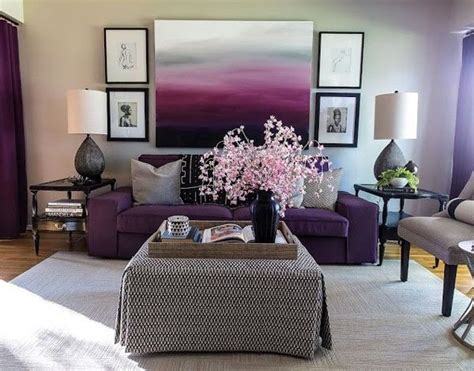 modern living room  purple tones pictures