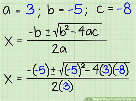 3 Ways To Solve Quadratic Equations Wikihow