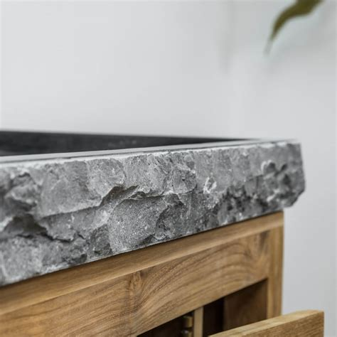 charmant humidite mur salle de bain 5 meuble sous vasque simple vasque en bois teck massif