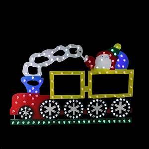 12, 25, U0026quot, Lighted, Led, Multi-color, Train, Christmas, Window, Silhouette, Decoration