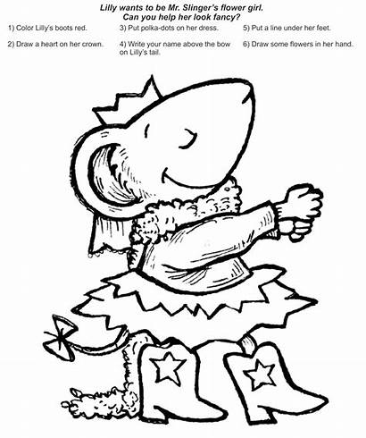 Chrysanthemum Coloring Pages Kevin Henkes Clipart Lily