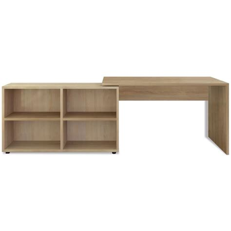 corner desk with shelves vidaxl corner desk 4 shelves oak vidaxl co uk