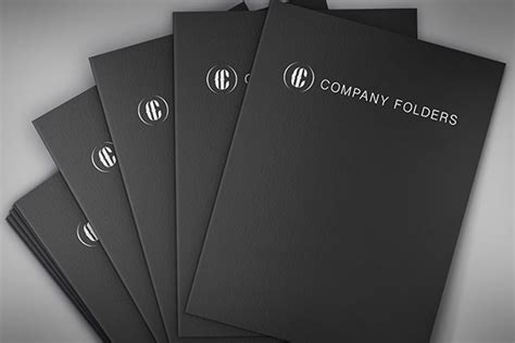 stacked  folders mockup template  psd