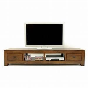 Meuble Tv Bas Et Long : meuble tv bas et long ~ Teatrodelosmanantiales.com Idées de Décoration