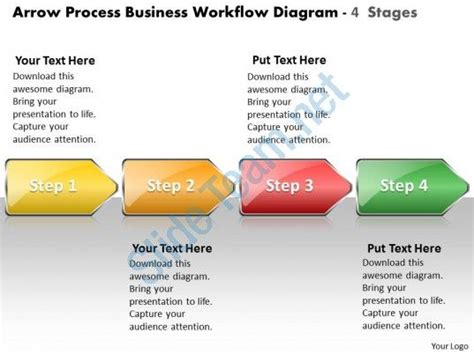 business powerpoint templates arrow process workflow