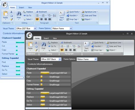 introducing elegant ribbon  office  style controls