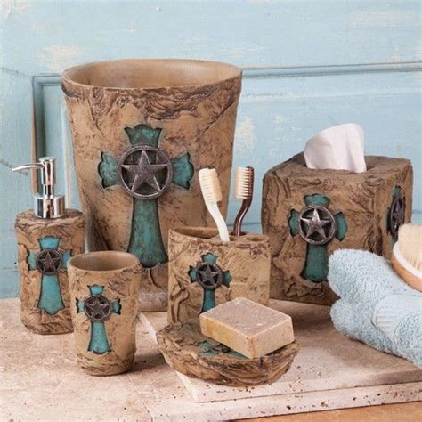 Rustic Bathroom Sets by Turquoise Cross Bath Collection Western Bathroom