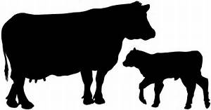 Cow And Calf Silhouette Free Vector Silhouettes
