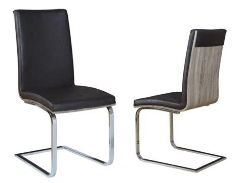 chaise séjour chaise sejour lathi 56 chene gris fonce