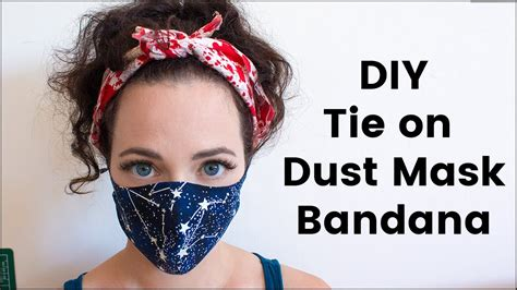 diy tie  face mask  burning man youtube
