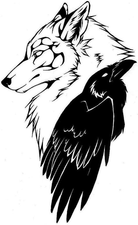 Read Complete Black Wolf Head With Raven Tattoo Design By RavenSilverclaw | Raven tattoo, Wolf
