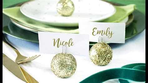 christmas baubles name holders diy bauble ornament place card holder birdspartytricks