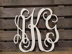 painted monogram extra large wall letters 30quot cursive With cursive wooden letters for walls