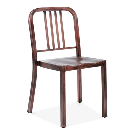 metal dining chair  brushed copper restaurant chairs
