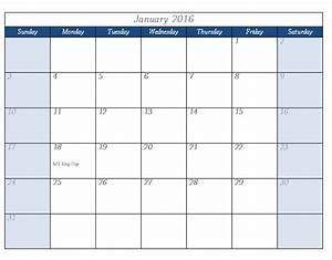 2016 calendar template templates for microsoftr word for Microsoft word calendar template 2016