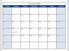 2016 Calendar Template Templates for Microsoft® Word