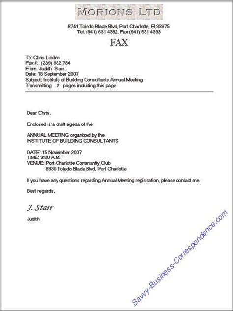 business fax cover sheet  proper formatting  page