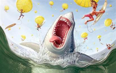 Cartoons Wallpapers Cartoon Shark Inappropriate Background Backgrounds